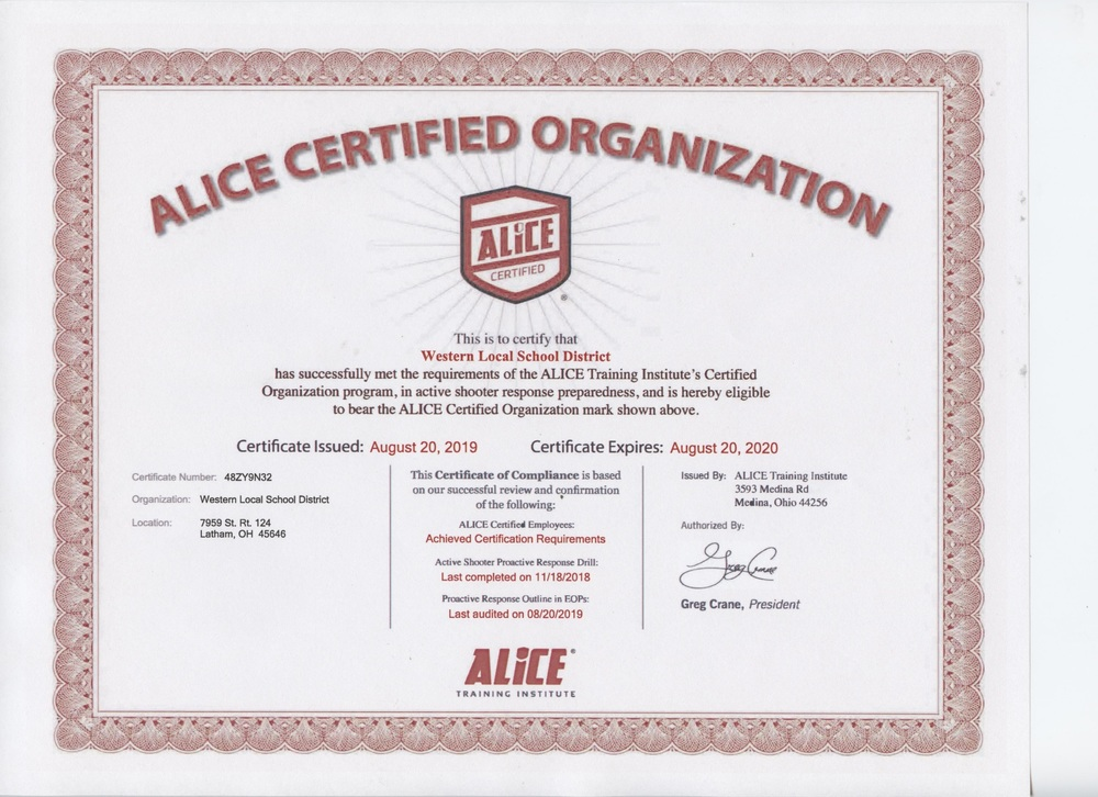 ALICE Certification