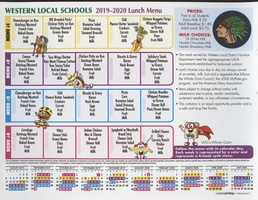 2019-20 Lunch Menu