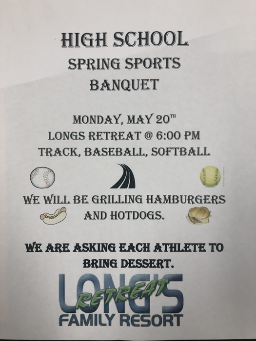 High School Spring Sports Banquet