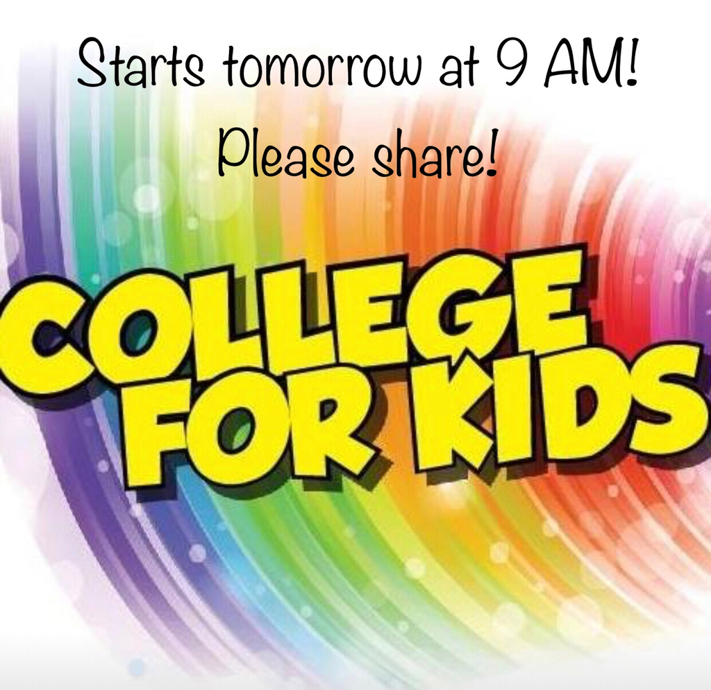 College for kids starts tomorrow!